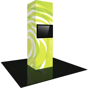 Vector Frame Modular Backlit Monitor Tower 03 (3' x 10')